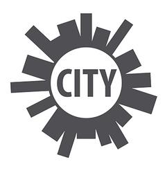 Round logo city planet vector