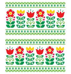 Scandianvain folk art pattern - seamless vector