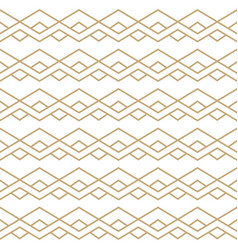 seamless pattern with golden zigzag line ornament vector image