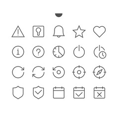 Settings ui pixel perfect well-crafted thin vector