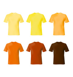 Shirt design template set men t shirt yellow vector
