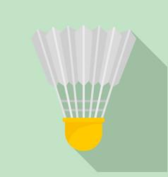 shuttle birdie icon flat style vector image