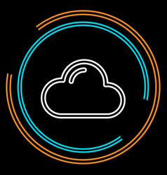 simple cloud thin line icon vector image