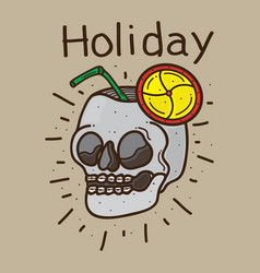 skull design holiday vector image