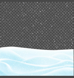 snowy landscape isolated over transparent vector image