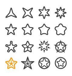 Star line icon vector