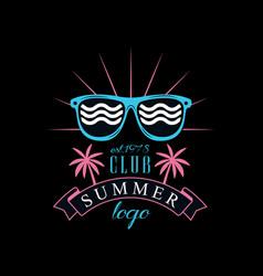 Summer club logo est 1978 creative badge can be vector