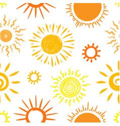 sun sketch pattern vector image