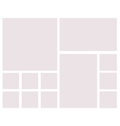 templates collage frames for photo or vector image