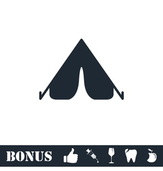 Tent icon flat vector