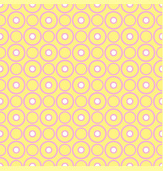 tile pattern with pink and white dots on yellow vector image