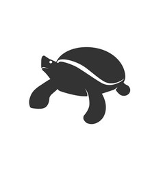 Turtle silhouette logo - ocean sea nature animal vector