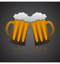 two full glasses of beer eps10 vector image