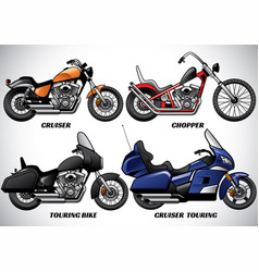 Types motorcycle part 3 vector