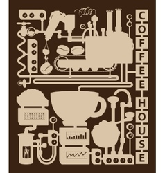 Vintage coffee house vector image