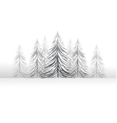 Winter forest card vector