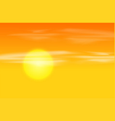 yellow orange sunset background vector image