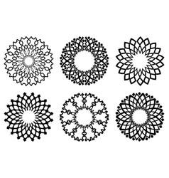 abstract ring symbol vector image vector image