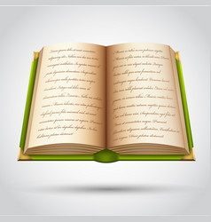 open old book vector image