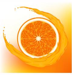 orange with a wave juice vector image vector image