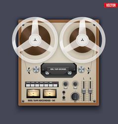 vintage analog reel tape recorder vector image