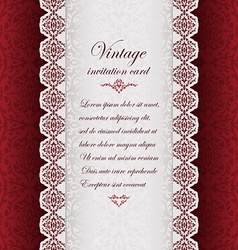 Vintage ethnic background with lace vector image vector image