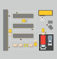 warehouse top view scheme map vector image vector image