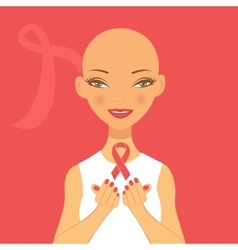 beautiful breast cancer awareness vector image vector image