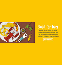 food for beer banner horizontal concept vector image