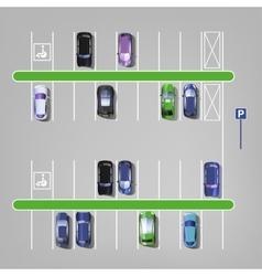Parking lot top view 01 C vector image