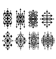 Vintage mexican aztec tribal traditional vector image