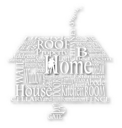 cutout home words vector image vector image