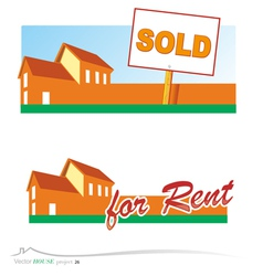 real estate banners vector image vector image