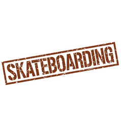 Skateboarding stamp vector