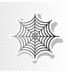 spider on web new year vector image vector image