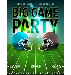 American Football Big Game Party vector image vector image