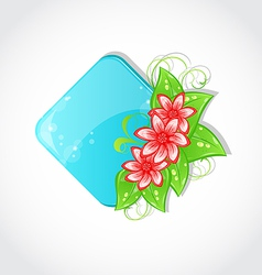 Bouquet flowers and place for text vector image vector image