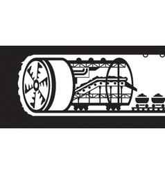 Building of underground tunnels vector