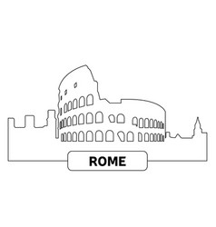 cityscape of rome vector image vector image