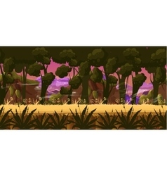 Dark Forest Background vector image vector image