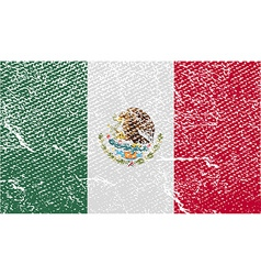 Flag of Mexico with old texture vector image