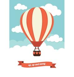 Hot air balloon graphic vector