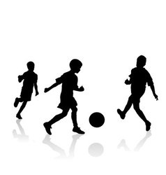 Little soccer players vector image vector image