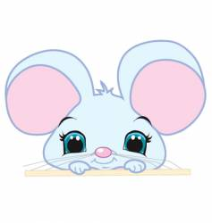 peeking mouse vector image vector image