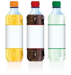 Soft Drink Bottles vector image