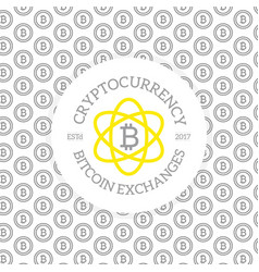 unique digital money and bitcoin logo on seamless vector image