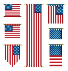 united states banners vector image