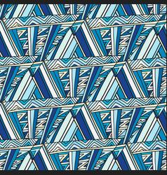 Abstract seamless pattern deep blue geometric vector