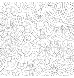 Adult coloring bookpage an abstract background vector