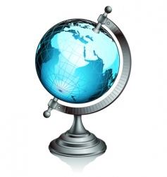 ancient globe vector image